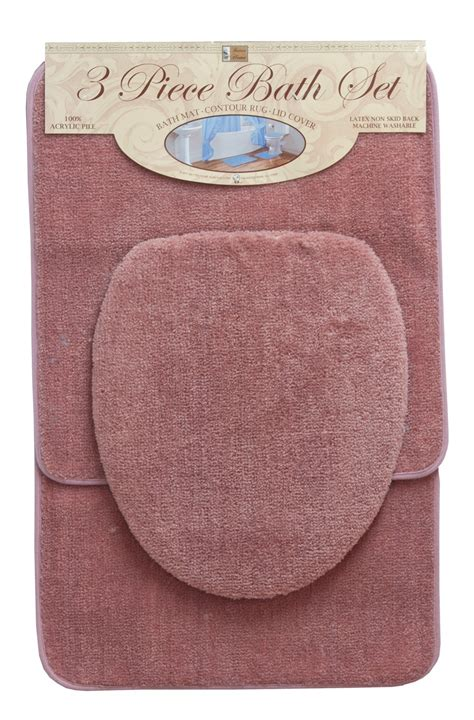 piece solid bath rug set curtain bath outlet