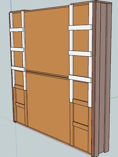 fold  wall bunk bed plans diy  plans
