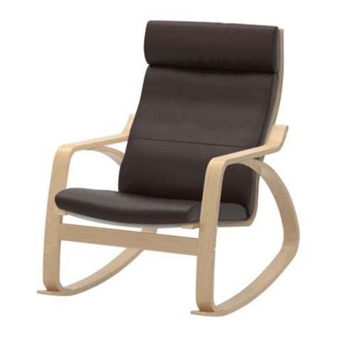 ikea chaise a bascule po 196 ng rocking chair glose brown ikea