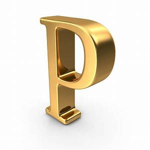 gold capital letter p png images psds for download With letter p gold