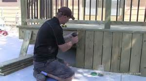 how to build a deck 5 skirting youtube