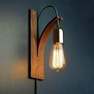 Luminaire Mural Chambre : walnut wall light wall scone interior lighting wooden lamp handmade lampes design ~ Teatrodelosmanantiales.com Idées de Décoration