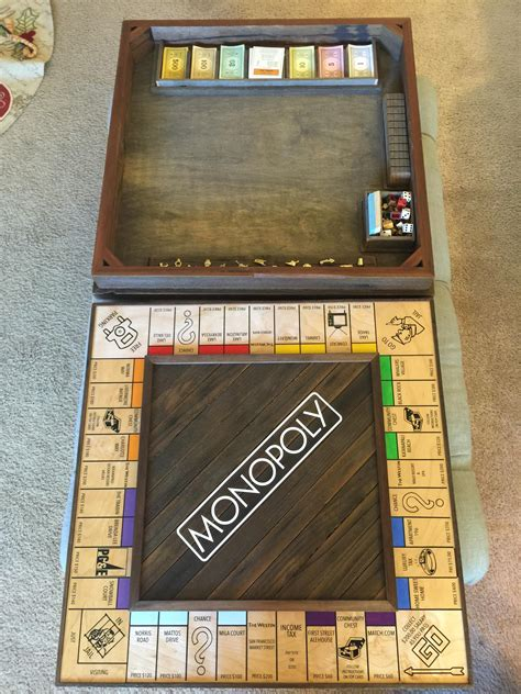 man proposes   fully customized monopoly board