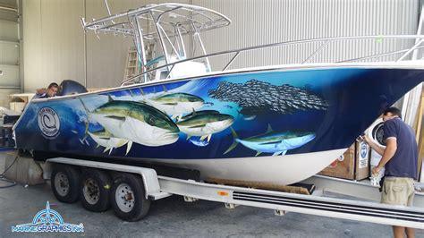 Marine Wrap Boat Graphics by Kingie Wrap