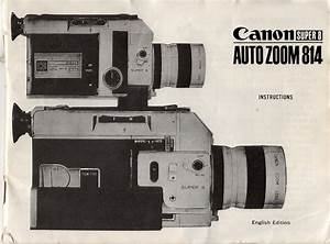 Canon 814    Cover Of Manual
