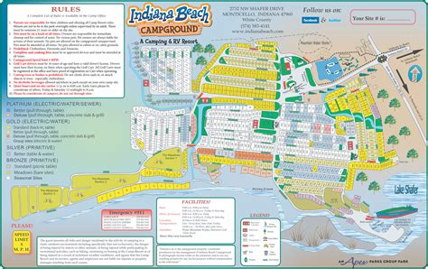 Indiana Beach Campground Map