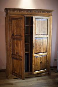 Free Stock Photo 8931 Rustic wooden wardrobe or armoire