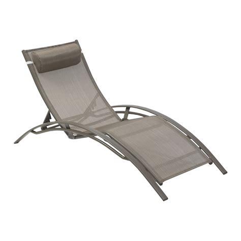 chaise bain de soleil bain de soleil de jardin en aluminium cappuccino leroy merlin