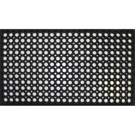 bayliss 40 x 70cm black rubber circle mat bunnings warehouse