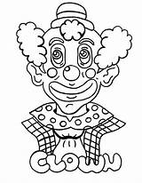 Clown Coloring Printable Palhaco sketch template