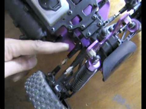 adjust rc buggy front wheel alignment youtube