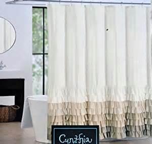 amazon com cynthia rowley fabric shower curtain tan
