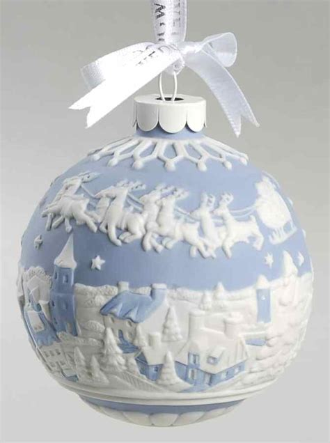 wedgwood jasperware ball ornament blue santa in flight