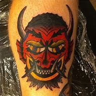 Devil Horns with Halo Tattoo