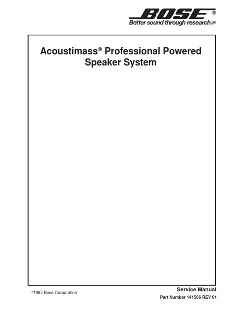 bose acoustimass professional service manual lifier electrostatic discharge
