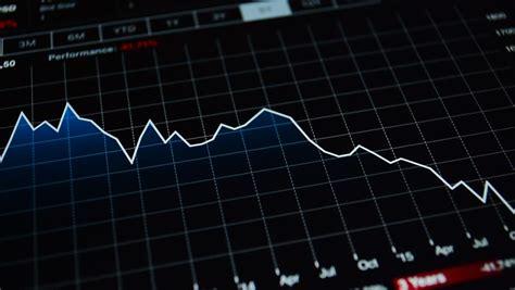 decreasing graph financial chart symbolizing stock