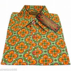 Pop Art Kleidung : details zu chenaski herren 60er jahre 70s gr n orange psychedelische pop art hemd vtg neu pop ~ Indierocktalk.com Haus und Dekorationen