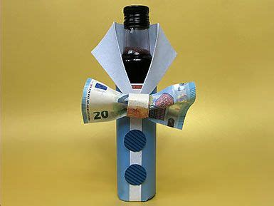 geldgeschenk flasche mit geldfliege diy tutorial basteln