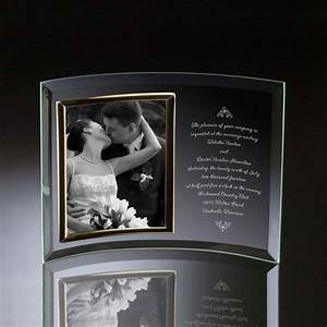 wedding invitation curved glass vertical 8x10 photo frame With engraved wedding invitation picture frame