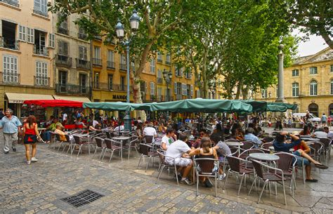 aix en provence town centre terraces on the place de l h 244 t flickr