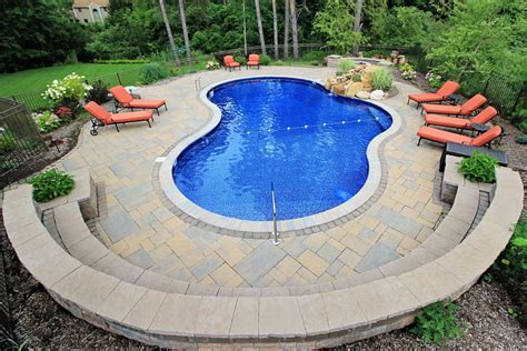 photos of pools mountain pond shaped inground pools cannon pools and spas