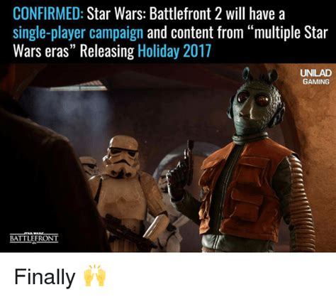 Battlefront 2 Memes - confirmed star wars battlefront 2 will have a single player caign and content from multiple