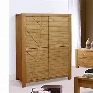 Armoire Bois Blanc : armoire de chambre en bois ~ Teatrodelosmanantiales.com Idées de Décoration