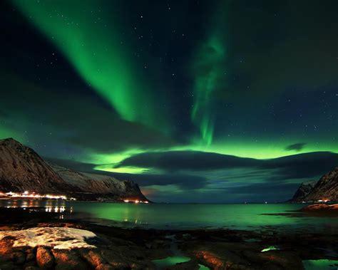charming aurora lofoten norway desktop pc