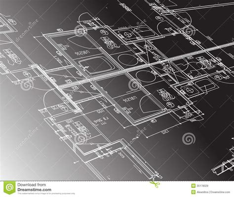 Architecture Plan Guide Illustration Design Royalty Free