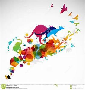 Creative Motion Graphic Illustration Royalty Free Stock ...