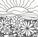 Coloring Pages Gardening Print Garden Flower Printable Sheets Plant Psychedelic sketch template