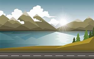Road Side View Clipart - ClipartXtras