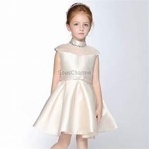 robe de princesse fille pour mariage pas cher en satin With robe de princesse pour enfant