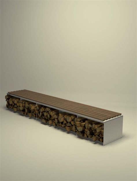 Einfamilienhaus Sideboard Fuer Kaminholz by Design Metallmoebel Kaminholz Sitzbank Brennholz