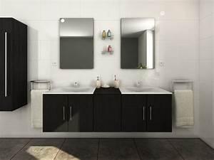 ensemble de salle de bain avec double vasque et miroir With salle de bain design avec ensemble vasque meuble miroir