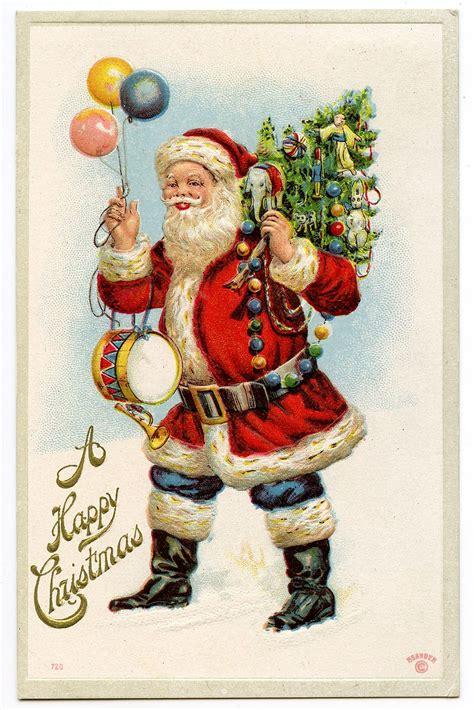 vintage graphic classic santa  balloons
