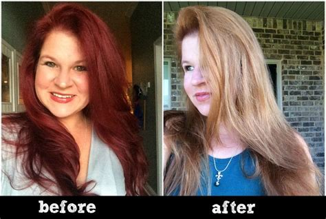 color before and after pictures does hair color remover work