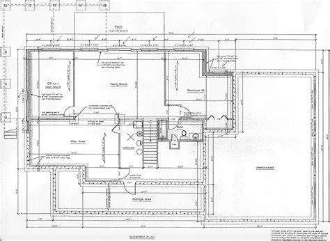 basement plan floor plans and elevations click to enlarge