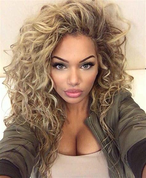 big curly hair ideas  pinterest big perm big