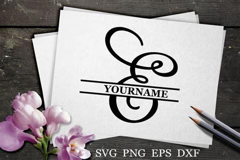 split monogram svg split letter svg monogram font  monograms design bundles