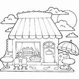 Cake Coloring Candy Sweets Pages Sweet Food Printable Cakes Surfnetkids sketch template