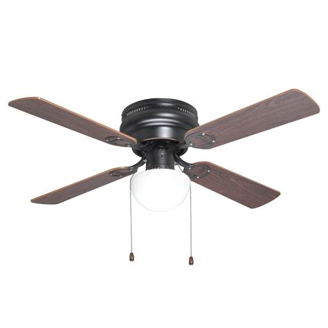 42 inch flush mount hugger ceiling fan w light kit bronze