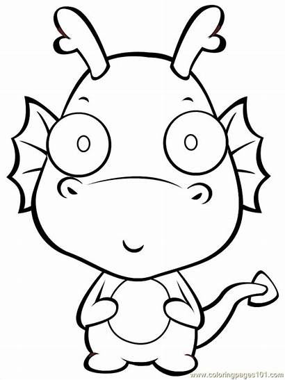 Coloring Dragon Cartoon Pages