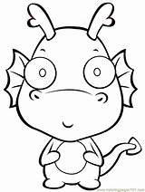 Cartoon Dragon Coloring Pages Ball Coloringpages101 sketch template