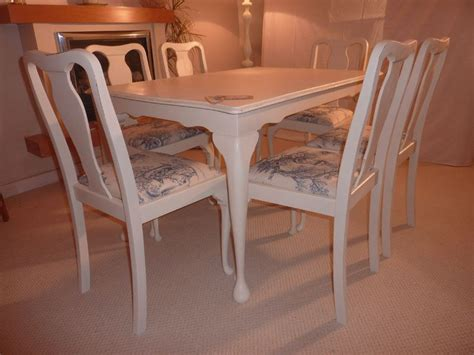 shabby chic extending dining table shabby chic extendable dining table with 6 chairs painted vintage antique farmhouse furniture