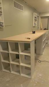 best 25 craft tables ideas on pinterest diy crafts desk With kitchen cabinets lowes with large resin wall art