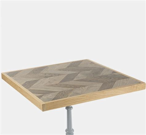 parquet table top blenheim parquet square chevron table top 700x700mm uhs 1418