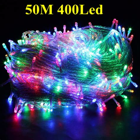 hanging christmas lights on windows outside multi color 50m 400 led bulbs fairy string light outside