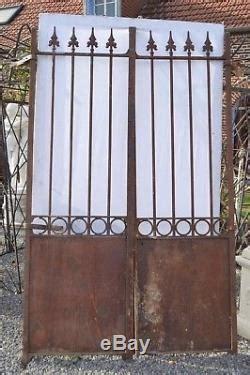 ancien portail en fer forg 233 2m40 de haut x 146 cms de large