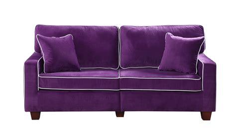 Velvet Purple Sofa by Modern Two Tone Purple Velvet Fabric Living Room Seat